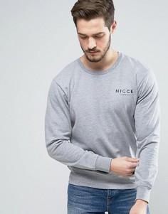 Серый свитшот с логотипом на груди Nicce London - Серый