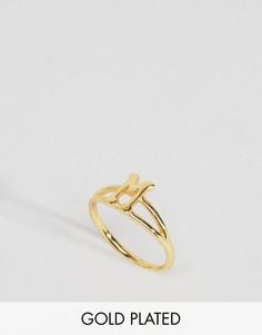 Кольцо с инициалом М Rock N Rose - Золотой