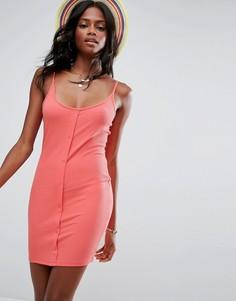 Облегающее платье мини с кнопками ASOS - Красный