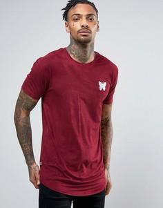 Бордовая футболка из искусственной замши Good For Nothing - Красный