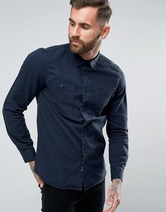 Рубашка классического кроя в стиле милитари Jack Wills Bagley - Темно-синий