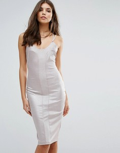 Облегающее платье на бретельках Love - Бежевый