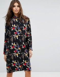 Платье-рубашка с принтом Love - Черный