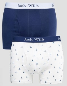2 пары боксеров-брифов (синие/с принтом) Jack Wills Chetwood - Синий