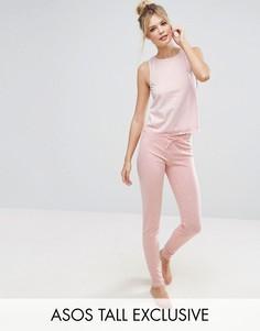 Пижама с майкой и леггинсами ASOS TALL - Розовый