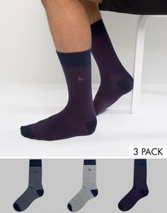 3 пары носков в полоску Jack Wills Alandale - Мульти