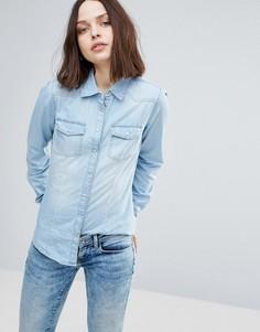 Приталенная джинсовая рубашка Only Always Rock It - Синий