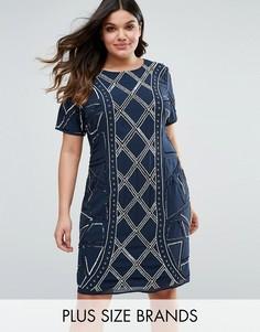 Цельнокройное платье Lovedrobe Luxe - Темно-синий