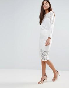 Кружевная юбка-карандаш Zibi London - Белый
