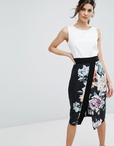 Платье миди с цветочным принтом Closet London 2 в 1 - Мульти