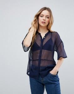 Рубашка Neon Rose - Темно-синий