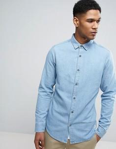 Узкая джинсовая рубашка Only & Sons - Синий