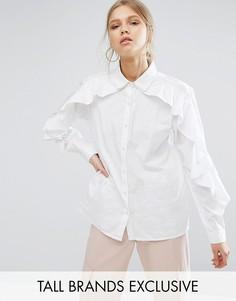 Рубашка с оборками Daisy Street Tall - Белый