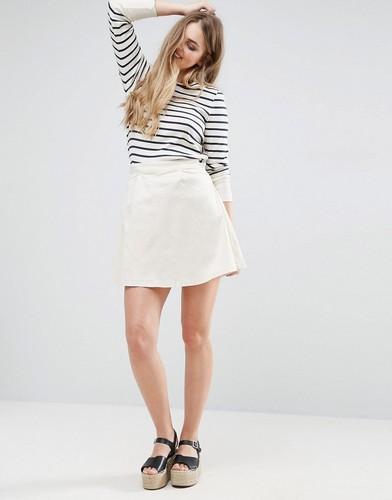 Короткая расклешенная юбка Vila - Темно-синий