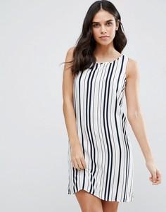 Цельнокройное платье в полоску Vila - Белый