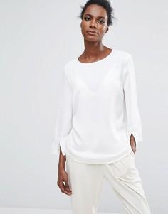 Блузка с длинными рукавами Selected - Белый