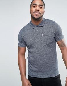 Трикотажная футболка‑поло с карманом Lambretta - Темно-синий
