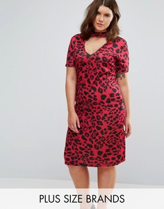 Платье с леопардовым принтом Pink Clove - Мульти