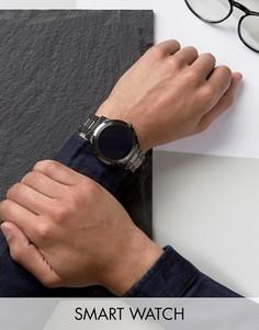 Черно-серебристые смарт-часы Fossil Q FTW2117 Founder - Черный