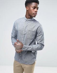 Рубашка из смешанного льна Bellfield - Синий