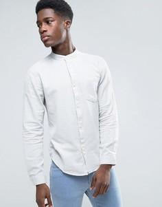 Меланжевая рубашка с воротником на пуговице Bellfield - Серый