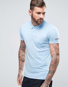 Трикотажная футболка‑поло с карманом Lambretta - Синий
