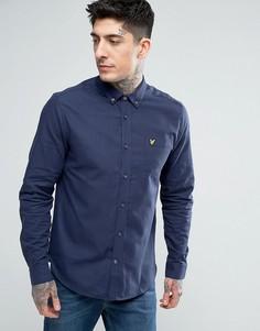 Меланжевая фланелевая рубашка Lyle & Scott - Темно-синий