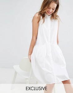 Платье-рубашка без рукавов Monki - Белый