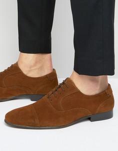 Коричневые замшевые оксфордские туфли New Look - Коричневый