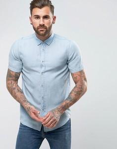 Джинсовая рубашка классического кроя ASOS - Синий