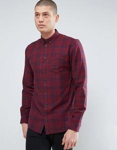Плотная фланелевая рубашка в клетку Minimum - Красный