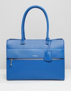 Кожаная сумка-тоут Modalu - Синий