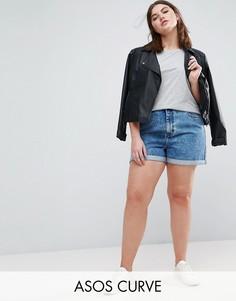 Джинсовые шорты в винтажном стиле ASOS CURVE - Синий