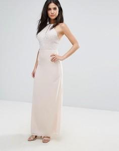 Шифоновое платье макси Maya - Кремовый