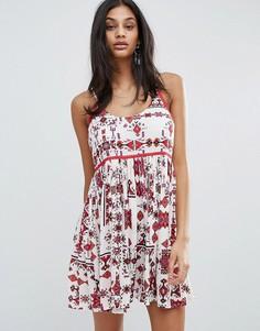 Платье на бретельках с принтом Raga Native Dreams - Красный