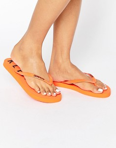Шлепанцы с логотипом Calvin Klein - Оранжевый