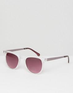 Квадратные солнцезащитные очки в прозрачной оправе Komono - Прозрачный