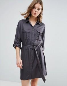 Платье-рубашка b.Young Gillian - Коричневый