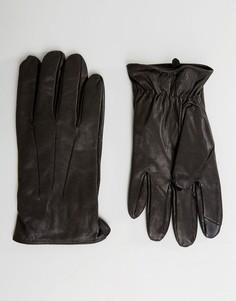 Кожаные перчатки Jack & Jones - Черный