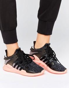 Черные кроссовки adidas Originals EQT Support - Черный