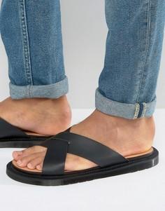 Черные сандалии Dr Martens Platt - Черный