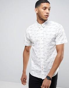 Рубашка классического кроя с принтом чаек Bellfield - Белый