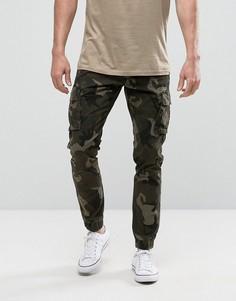 Камуфляжные брюки карго с манжетами Only & Sons - Зеленый