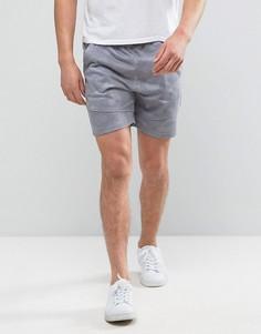 Трикотажные шорты с камуфляжным принтом Solid - Серый