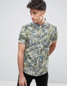 Рубашка с пальмовым принтом Another Influence - Зеленый