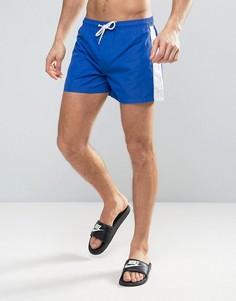 Короткие шорты для плавания со вставкой по бокам Bravesoul - Синий