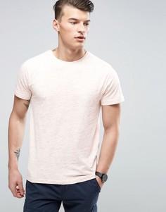 Меланжевая футболка в крапинку D-Struct - Розовый