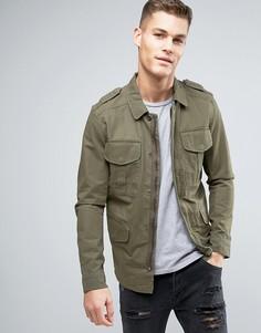 Куртка в стиле милитари Jack & Jones Vintage - Зеленый