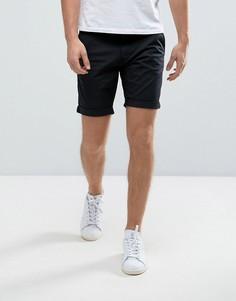 Эластичные шорты чиносы слим Selected Homme - Черный