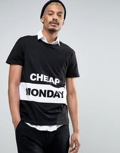 Футболка с логотипом Cheap Monday - Черный